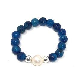 Blue Agate & FWP Bracelet