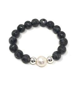 Grey Agate & FWP Bracelet