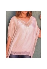 Mauve V-Neck Sequin Top