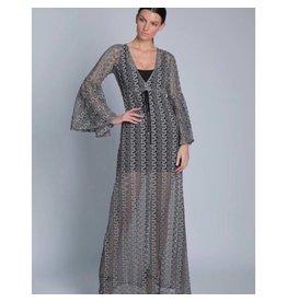 Grey Texture Serena Dress