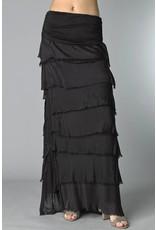 Black Flutter Skirt