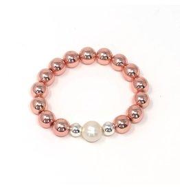 RG Coated Hematite & FWP Bracelet