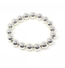 SIlver Coated Hematite Bracelet