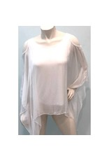 White Silk C/S Top