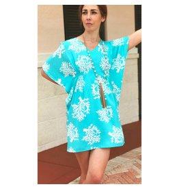Aqua/White Barrier Lucia Dress
