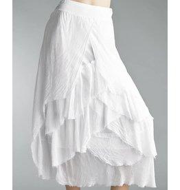 White Tier Flutter Skirt