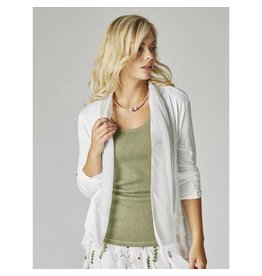 White Short Silk Cardigan