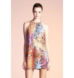 Multi Palm Leaf Shift Dress