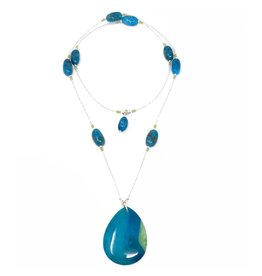 Apatite & Crystal Convertible Necklace