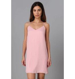Pink Cami Strap Tie-Back Dress