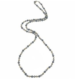 """Mixed Metal Beaded 36"""" Necklace"""