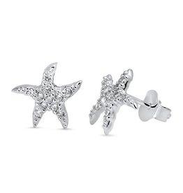 CZ Starfish Stud SI