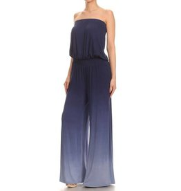 Navy Ombre Tube Jumpsuit