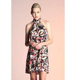 Leaf Print Halter Dress