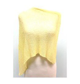 Sheer 5 Way Poncho Lemon