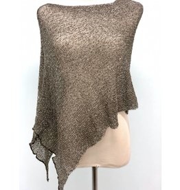 Sheer 5 Way Poncho Sage w/Silver Metallic