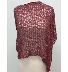 Popcorn Poncho Antique Rose