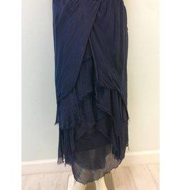 Navy Tier Flutter Skirt