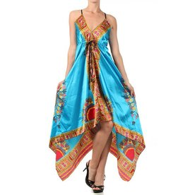 Turquoise Multi Fit-N-Flare Dress