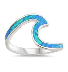 Large Opal Wave Ring