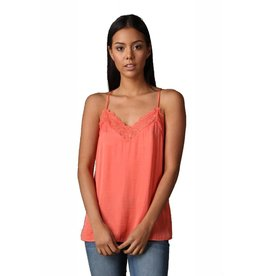 Tangerine Lace Top
