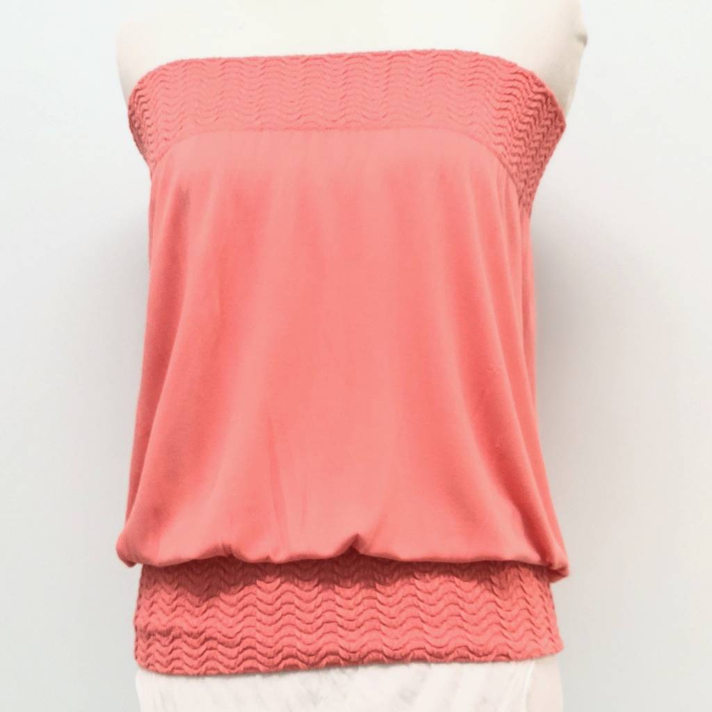 Banded Tube Top Peach