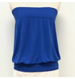 Banded Tube Top Royal Blue