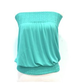 Banded Tube Top Teal