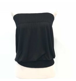 Banded Tube Top Black