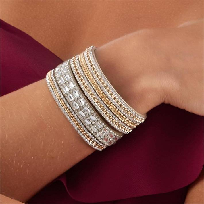 Gold Crystal Magnetic Bracelet