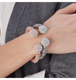 Cuff & Crystal Bracelet