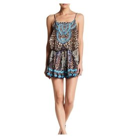 Cheetah Mix Emb. Romper