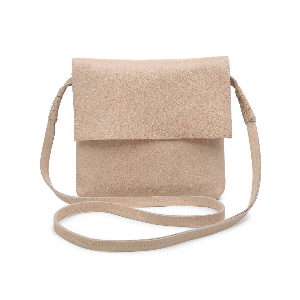 Natural Monroe Fold Over Crossbody