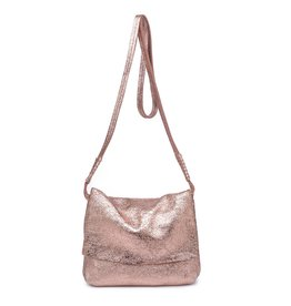 Rose Gold Monroe Fold Over Crossbody