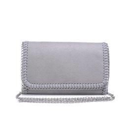 Silver Felicity Chain Clutch