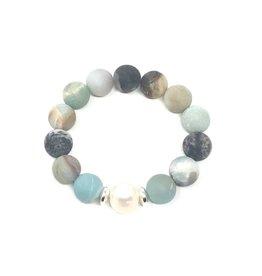 Amazonite & FWP Bracelet