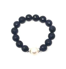 Blue Goldstone & FWP Bracelet