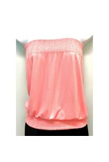 Banded Tube Top Light Pink