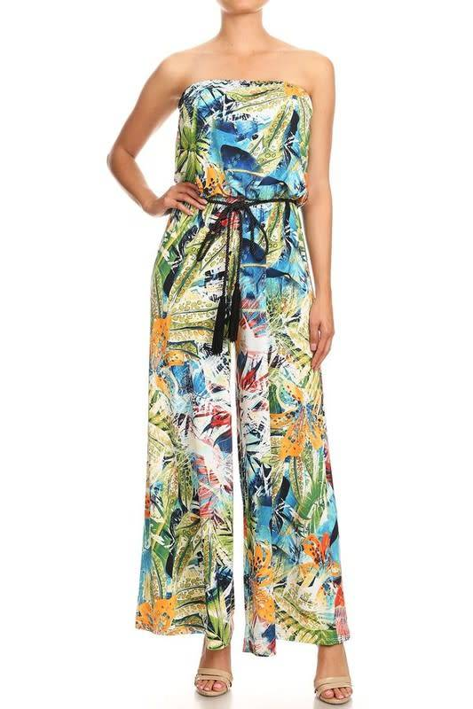 Tropical Flowers Jumpsuit