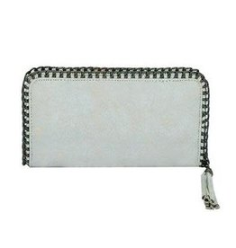 White Chain Detail Wallet