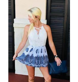 Crochet Top White Romper