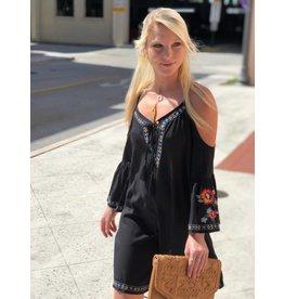 Black Bell Sleeve C/S Dress