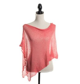 Sheer 5 Way Poncho Coral