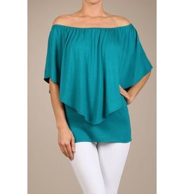 Convertible Poncho Top Teal