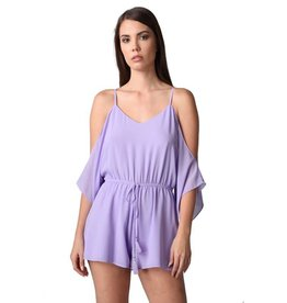 Lavender Cold Shoulder Romper