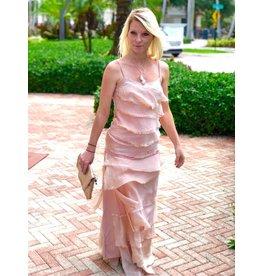 Dusty Rose Flutter Skirt
