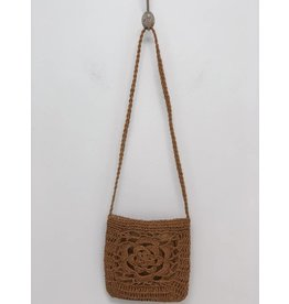Rectangle Rattan Crossbody
