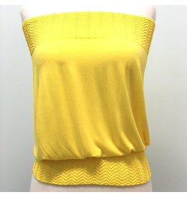 Banded Tube Top Sunshine