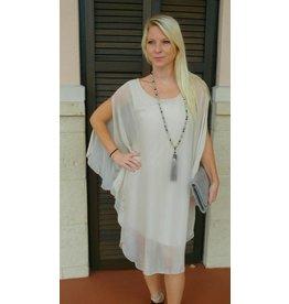 Beige Silk Goddess Dress