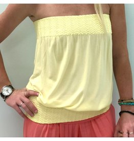 Banded Tube Top Canary